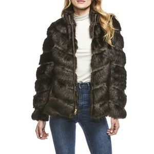 Donna Salyers Fabulous Furs Faux Fur Coat